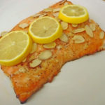 Making the Honey Almond Salmon from the Family Foodie Blog