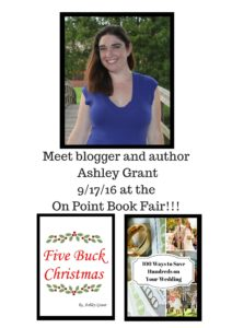 blogger and author ashley grant will be at the on point book fair 91716