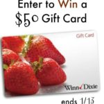 Enter to win a Winn Dixie Gift Card Now Thru 1/13/17