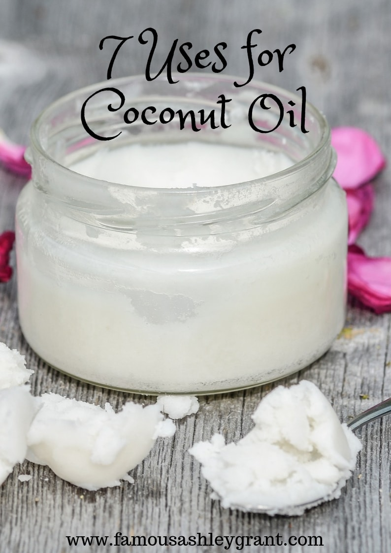 Coconut oil is quite the diverse oil. It's great for cooking, and for your health. This post includes 7 fabulous uses for coconut oil.