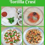 Caprese Pizza with Tortilla Crust