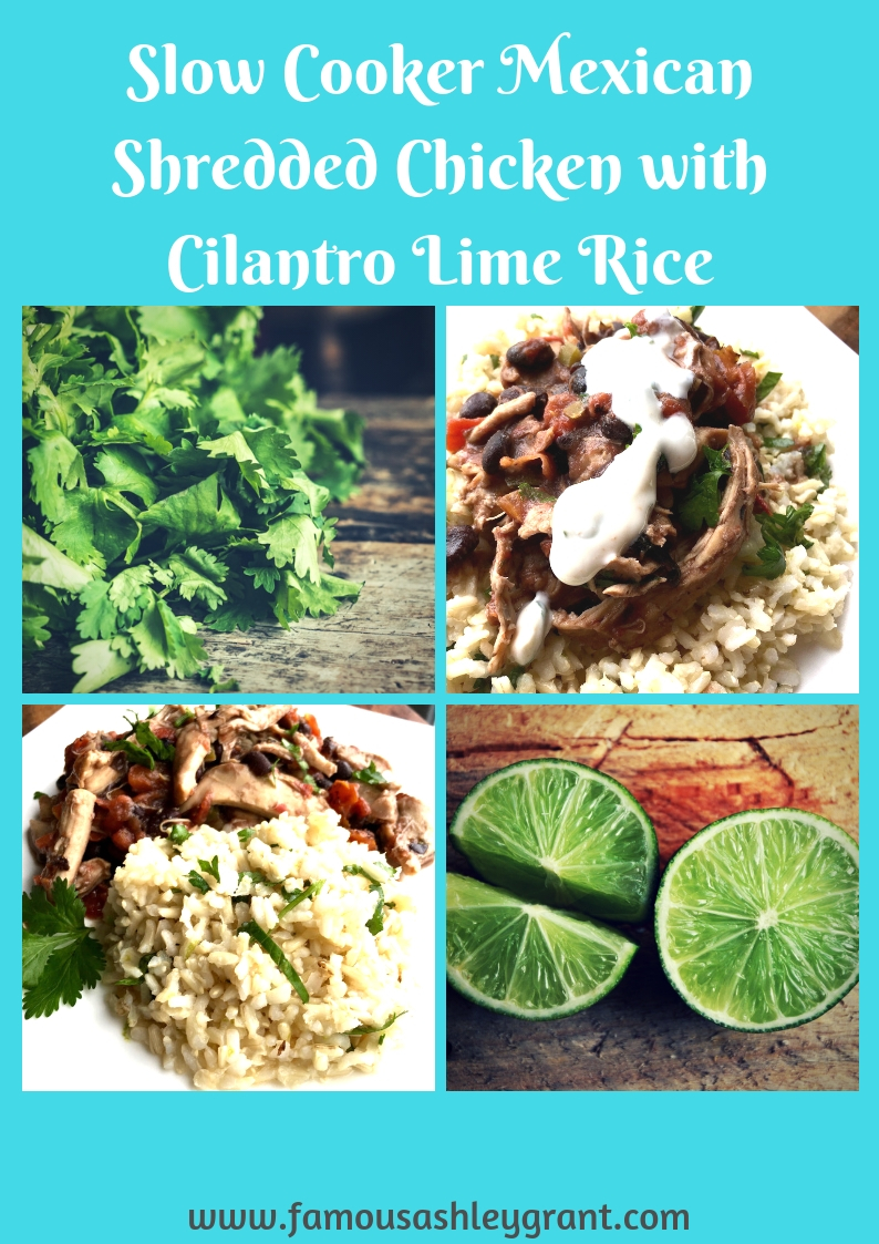 This easy Slow Cooker Mexican Shredded Chicken with Cilantro Lime Rice is a breeze to fix and so delicious!
