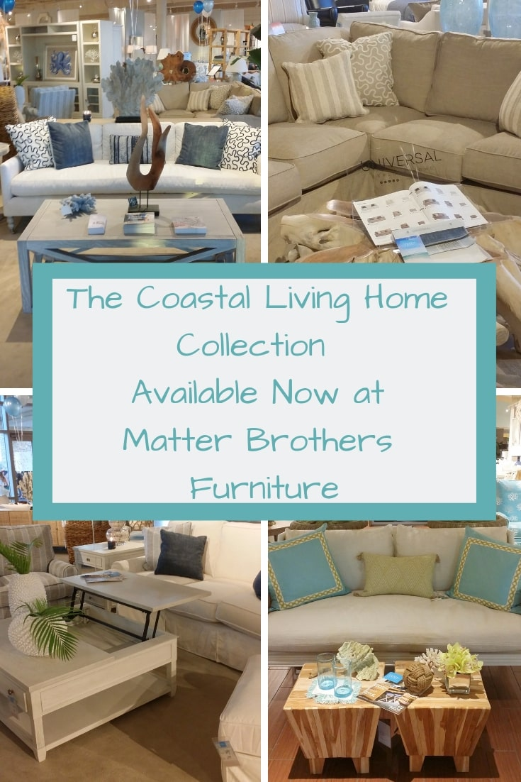 The Coast Living Home Collection is now available at Matter Brothers Furniture. AD