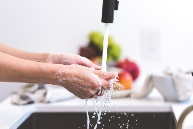 Happy Healthy During a Pandemic Washing Hands