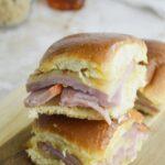 Ham & Cheese Sliders with Brown Sugar and Honey Glaze